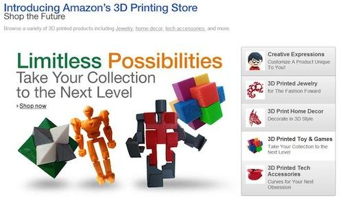 The Amazon 3D printing store interface allows you to customize the design before purchase.(Source: Amazon)