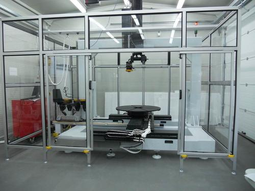 This configurable 6-axis robotic work cell from Flexible Robotic Environment can combine laser scanning, CNC milling, and metals laser sintering, among other functions. The VDK6000 has a build platform measuring 2 feet high by 3 feet in diameter, and is aimed at both making and repairing metal parts.   (Source: Flexible Robotic Environment)