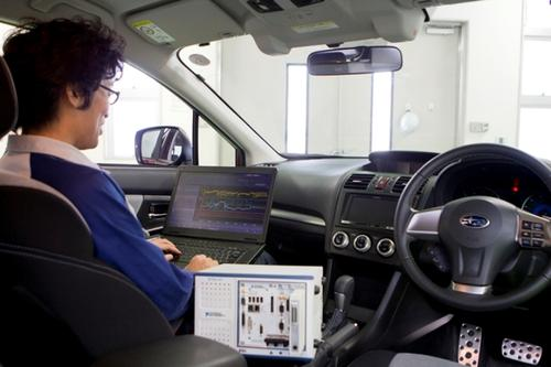 Subaru engineers used FPGA-based FlexRIO to cut the Crosstrek's test times from about 2,000 hours to 118 hours. (Source: National Instruments)