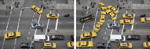 Need more cabs? The tool allows objects to be multiplied, flipped, or turned in almost any way.(Source: Carnegie Mellon)