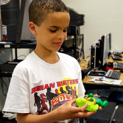James Banks, an 11-year-old boy from Appleton, Wis., who's been dubbed the 'Space Kid,' will be one of the first civilians to have his design manufactured in space thanks to the City X Project. Banks has designed something called the 'Health Coaster' that will be manufactured using a 3D printer by astronauts on the International Space Station (ISS) early next year.   (Source: City X Project)
