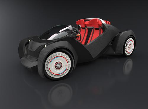 The 3D-printed car at IMTS stemmed from a Local Motors Design Challenge, which resulted in the submission of over 200 entries from more than 30 countries. The winning concept, Strati, inspired the full-sized 3D-printed prototype.   (Source: Local Motors)