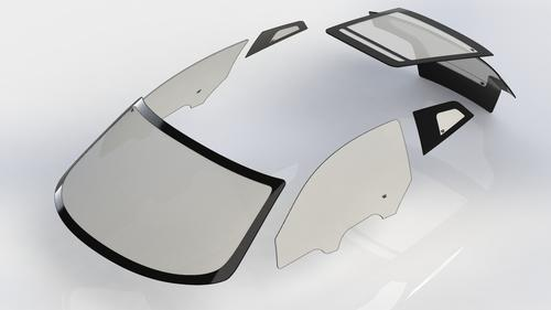 All of the Visio.M concept car's windows are made of SABIC's coated LEXAN, which weighs half as much as glass, but resists weathering and scratches just as well. 
