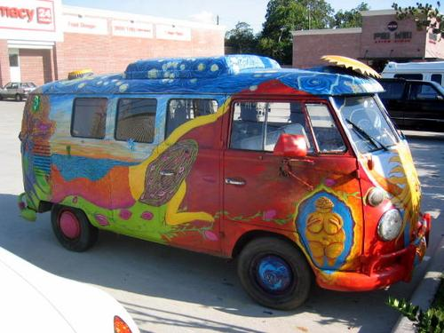 Volkswagen may be preparing to roll out a concept electric version of the Volkswagen Microbus. Painted versions of the venerable VW Microbus became a symbol of the counterculture movement in the 1960s.   (Source: Wikipedia)