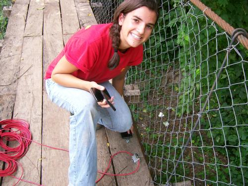 Maria Gibbs, a PhD candidate in civil engineering at Notre Dame, is in Haiti working with Bridges to Prosperity, an organization that builds bridges over impassable rivers that prevent access to healthcare, economic opportunities, and education.   (Source: Maria Gibbs)