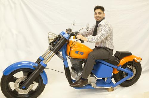 TE Connectivity built this all-electric motorcycle using 3D printing as a demonstrator to show its engineers what the technology can do in making working load-bearing production parts. 