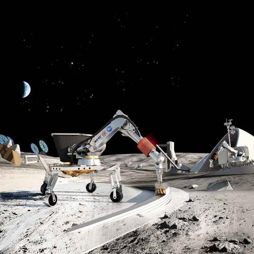 NASA has funded research headed by University of Southern California professor Behrokh Khoshnevis to explore how structures on the moon and on Mars can be made using additive manufacturing via Khoshnevis' Contour Crafting robot. The technology can create structures such as roads, landing pads, and buildings on location from local materials like lunar or Martian soil. In 2014, the Contour Crafting technology won the grand prize among more than 1,000 entries in the 2014 NASA Tech Briefs 'Create the Future' design contest.   (Source: University of Southern California/Contour Crafting)