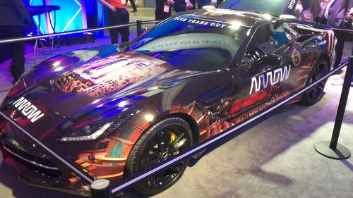 Paralyzed IndyCar driver Sam Schmidt steers this modified Corvette C7 Stingray by turning his head. He accelerates by puffing on an air tube and brakes by sipping on the tube.   (Source: Design News)