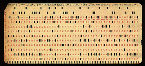 Figure 1. IBM Punch Card