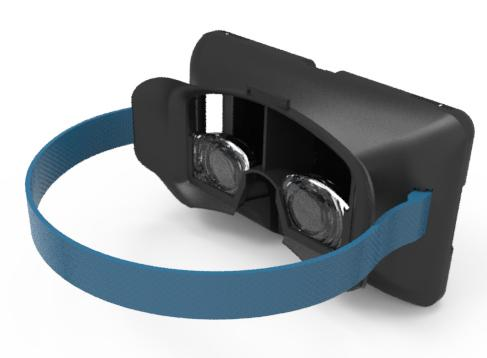 The LUXeXceL Virtual Reality (VR) headset will give the user the best possible VR experience by maximizing field of view. A wide field of view, along with accurate head tracking and stereoscopic 3D vision, are the three main factors that create a superior VR effect. This headset's design will create a wider field of view, increasing peripheral vision and thus the user's sense of immersion, by incorporating customized 3D-printed lenses. These will be Fresnel lenses, making it possible to create a very flat lens design and to place the lenses closer to the eyes.   (Source: Delft University of Technology)