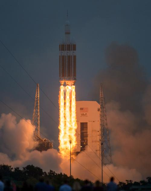 Mounted atop a Delta IV Heavy rocket, NASA's Orion spacecraft lifted off from Cape Canaveral on Friday, December 5th. The spacecraft orbited the Earth twice, reaching an altitude of approximately 3,600 miles. (Source: NASA)