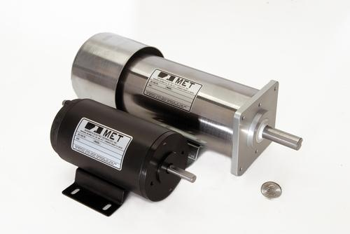 Minnesota Electric Technology has come out with a 3.6-inch battery-powered DC motor rated from fractional horsepower up to 2 HP.