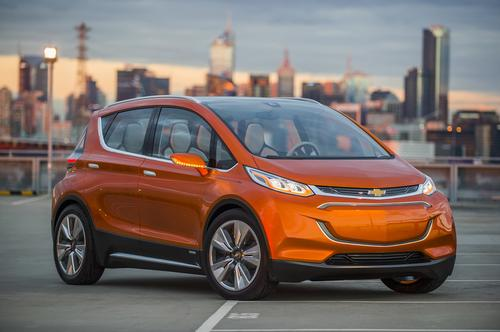 General Motors says the battery cells in the Chevy Bolt, due out in two years, will be $145/kWh.   (Source: General Motors)