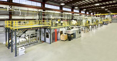Oak Ridge National Laboratory's Carbon Fiber Technology Facility is a 42,000 square foot carbon fiber conversion plant with a 390-foot processing line and a capacity of up to 20 tons per year. It's used by government and commercial partners to validate conversion of their carbon fiber precursors at a semi-production scale. 