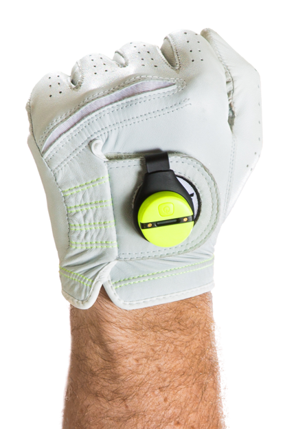 Using the Zepp Labs' Zepp 2 sensor, golfers can track club speed, club plane, tempo, hand path, backswing position, and hip rotation. The sensor, which contains two accelerometers and two gyroscopes, attaches to a glove-mount, then connects wirelessly to a handheld device, where it stores its data. Use of Zepp tracking devices has become widespread -- the company's website says its devices have tracked more than 87 million swings.  (image source: Zepp Labs)