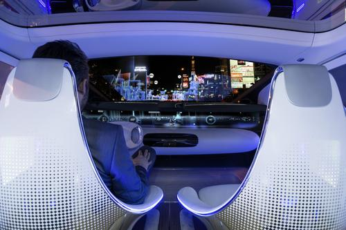 Future vehicles, such as Mercedes-Benz's futuristic F 015, will use more head-up displays.   (Source: Mercedes-Benz)