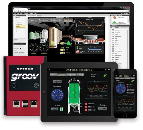 groov 3.1 connects machines, equipment, and control systems with mobile devices such as smartphones and tablets