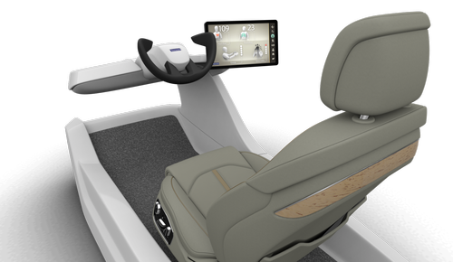 Faurecia's Active Wellness Seat can cool itself, provide ventilation, or give a message to the driver. (Source: Faurecia)