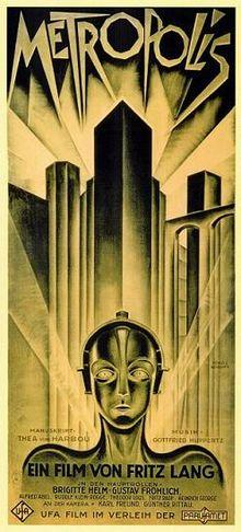 The robot MARIA from Metropolis stands apart as one of the only female robotic images of early science fiction. The entire film is dominated by technology, with a mixture of images from the 1920s and futuristic devices.   (Source: Paramount Pictures)