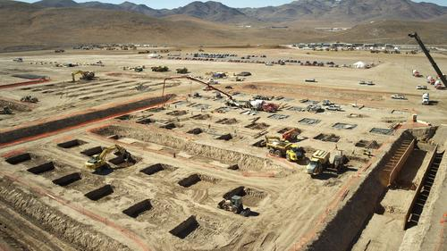Tesla broke ground on its Gigafactory on June 26, 2014. The company expects to be producing lithium cells later this year.   (Source: Tesla Motors)