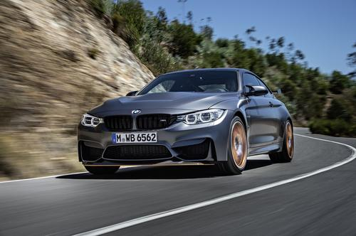 For the hood on BMW's M4 GTS, the car company chose Solvay's new MTR 760 rapid-cure, structural, thermoset filament winding resin system for carbon fiber reinforced plastic.    (Source: Solvay)
