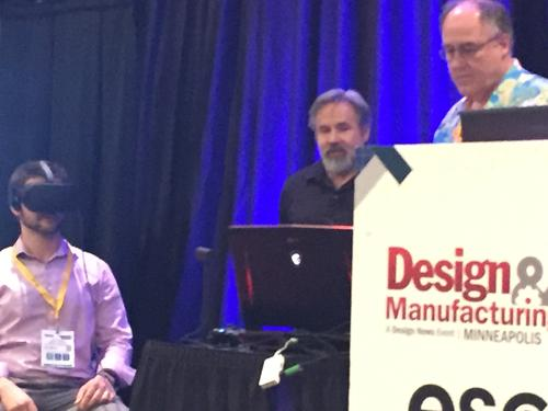 Chuck Carter demonstrated Virtual Reality at the Design and Manufacturing show in Minneapolis.