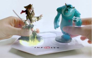 Crossover: Disney's coming Disney Infinity game will allow players to place a character from one world into another (such as putting Jack Sparrow from Pirates of the Caribbean into the Incredibles' world). (br>(Source: www.disneywikia.com)