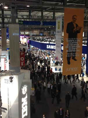 Sound and fury: 70,000 people are attending Mobile World Congress, some wondering what the tech announcements signify going forward.  (Source: Jennifer Baljko)