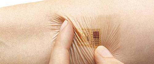 Virtually invisible and conformal electronic skin patch.(Source: MC10)