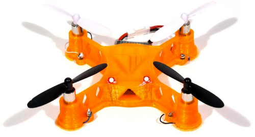 Voxel8's 3D printed fully functional quadcopter using thermoplastics and highly conductive silver ink.