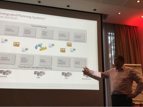Caption: Kimmo Karppi, Solution Architect at Oracle, explains traditional vs. integrated business planning in supply chain at the Oracle Cloud Day Helsinki in March.