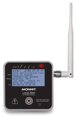 Here is the caption: Sensors for temperature-monitoring that supplier Monnit provides, can operate on battery power while remaining wirelessly connected to an IP-based network. (Photo courtesy: Monnit)