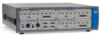 An Audio Precision APx585 audio analyzer has analogand digital inputs and outputs.