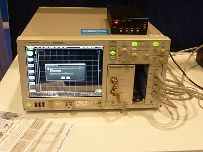 A DCA-X digital communications analyzer, one of many products from Agilent Technologies on display at DesignCon 2014.