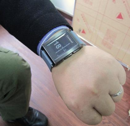 Smartwatch designed by Qifeng Yan, director of Media Lab (Shenzhen) at Hunan University.