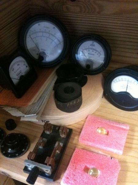 Papertape, analog meters, and radioactive marbles.
