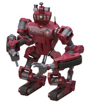 Chimp robot from Carnegie Mellon University (CMU) National Robotics Engineering Center (NREC). Chimp stands for CMU highly intelligent mobile platform.  (Source: DARPA)