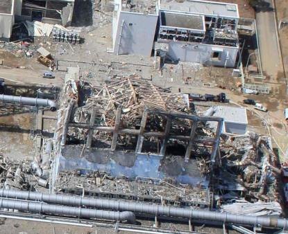 Fukushima nuclear power plant after the partial meltdown