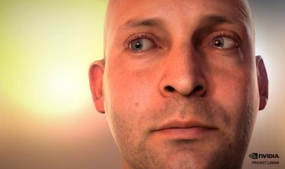 A demo of Nvidia's Ira facial simulation technology.  (Source: Nvidia)