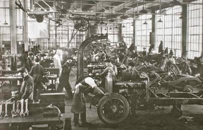 The Duesenberg Factory Floor.