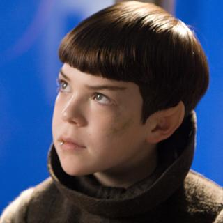 Young Spock as he appeared in the 2009 movie.