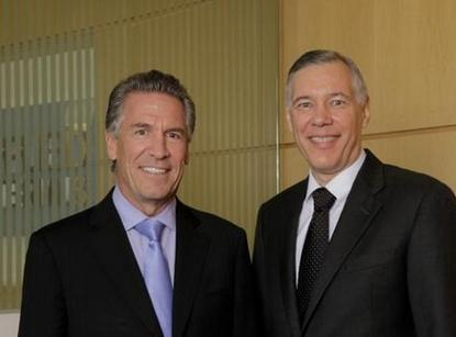 From left to right: Mike Splinter, who becomes executive chairman of Applied Materials, and Gary Dickerson, who becomes CEO, with effect from Sept. 1.