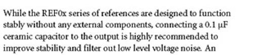 An excerpt from the REF01/REF02/REF03 Rev K datasheet.