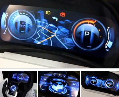 Nvidia's Tegra team shows off car dashboards of the future.