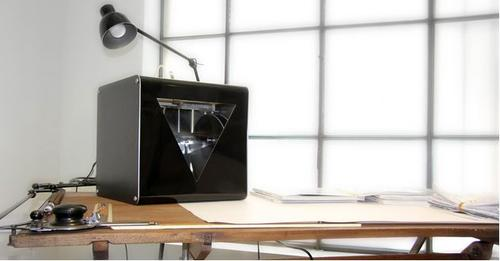 The compact FABtotum prototype on desktop.  (Source: FABtotum on Indiegogo)