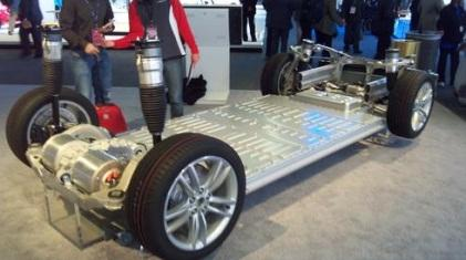 Tesla Model S's lithium-ion batteries are placed low in the vehicle, dropping its center of gravity. 