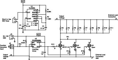 An onboard transient load tester reduces interconnect inductance. (Click here for a full-size version.)