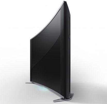 A curved display from Sony.