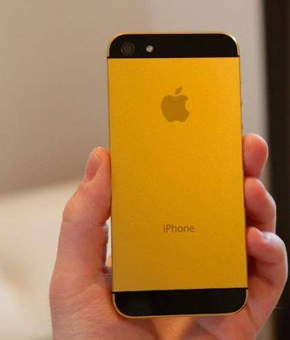 Gold-colored casing is available on iPhone 5s.