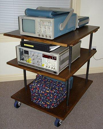 With a few tools, you can build in instrument cart for your home lab.